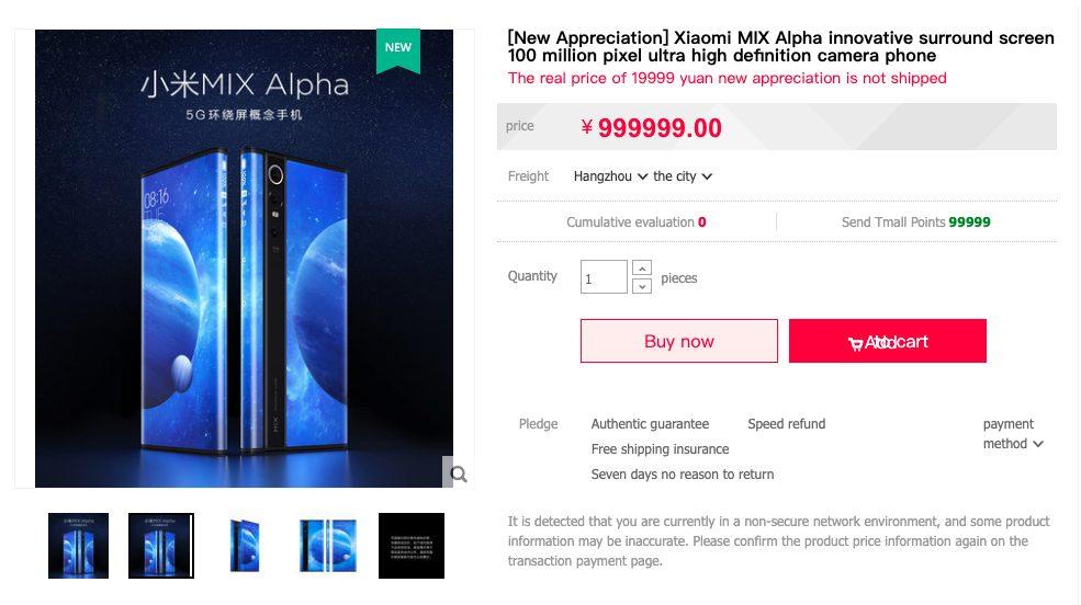 Mi MIX 4 Sale Listing