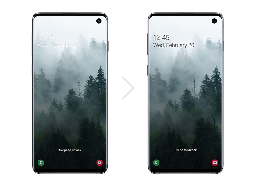 Samsung One UI Beta Program Smart Lockscreen S10