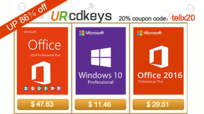 Licencje Windows 10 za 11.46 Dolarów i Office 2016 za 29.51 euro