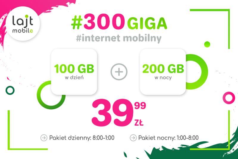 #300GIGA w lajt mobile