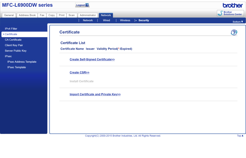 192.168.118.4 net security certificate certificate.html