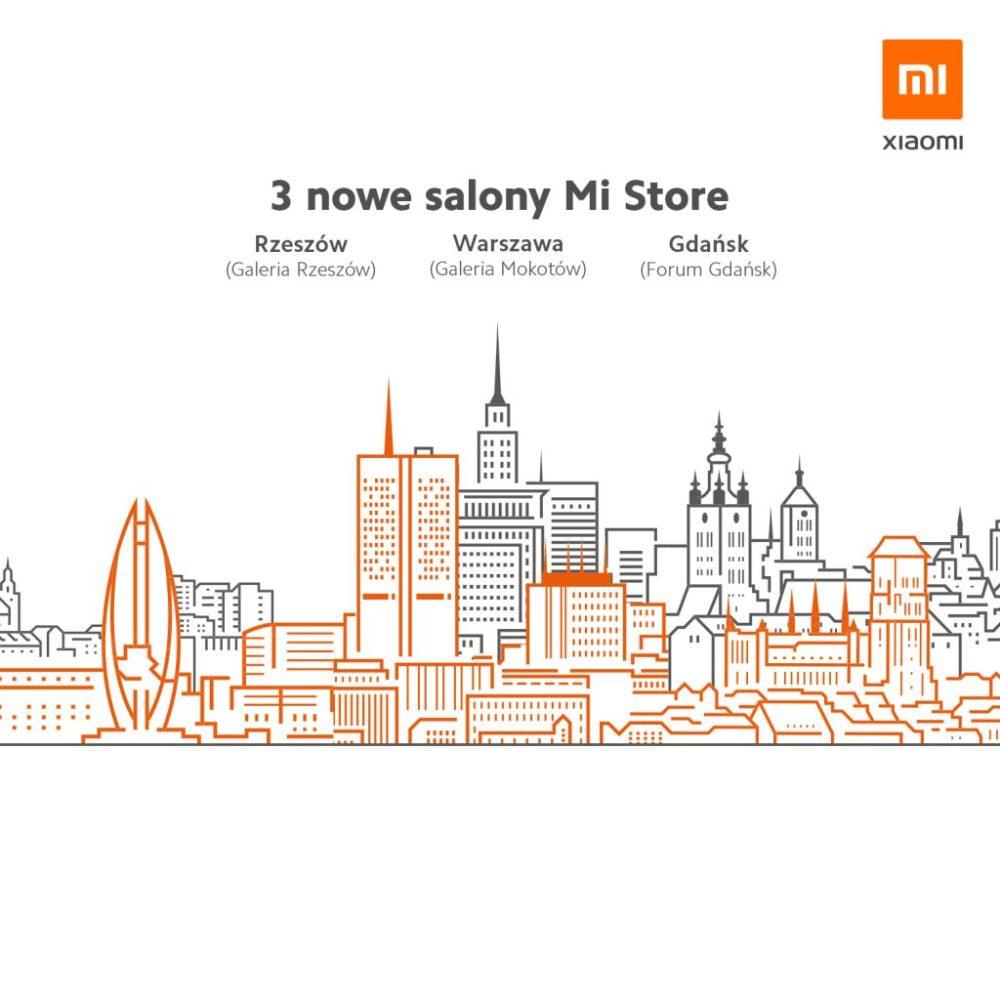 Xiaomi poszerza sieć sprzedaży o kolejne Mi Stores - w Gdańsku, Rzeszowie i Warszawie