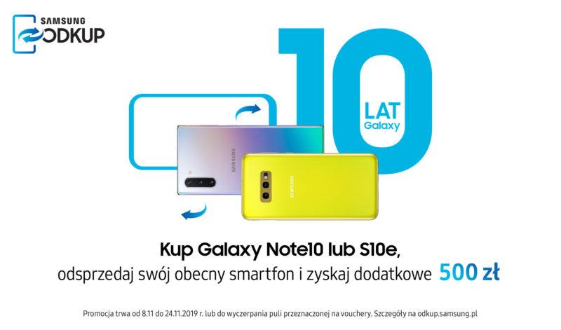 Listopadowe promocje Samsung na zakup Galaxy Note10, S10e oraz Galaxy A10 i A20e