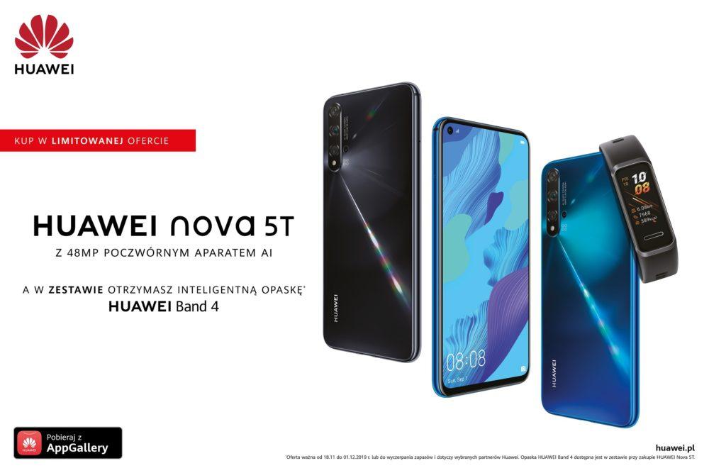 Huawei nova 5T w zestawie z Band 4