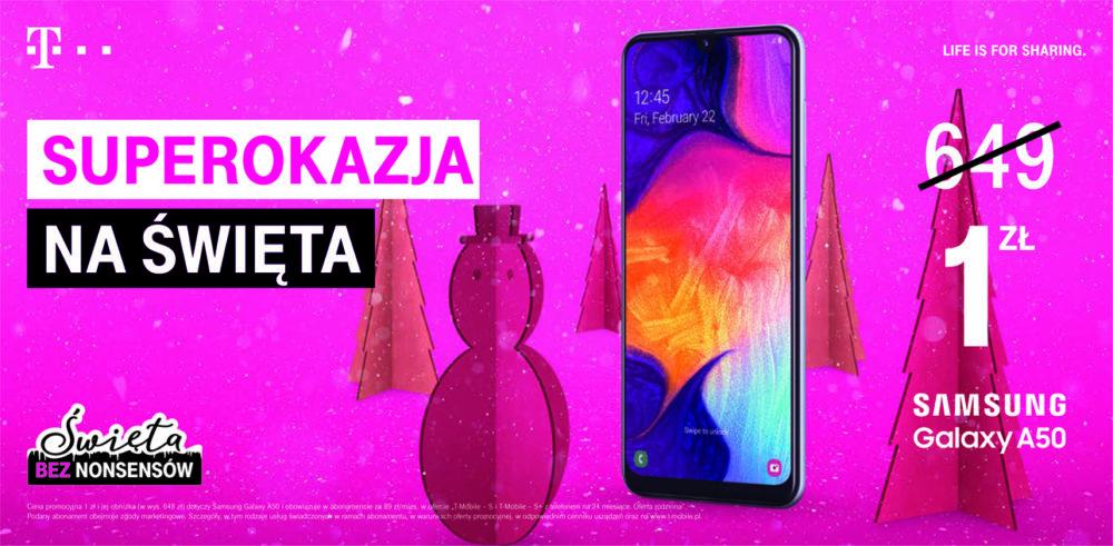 T Mobile oferta świąteczna 2019 Samsung A501