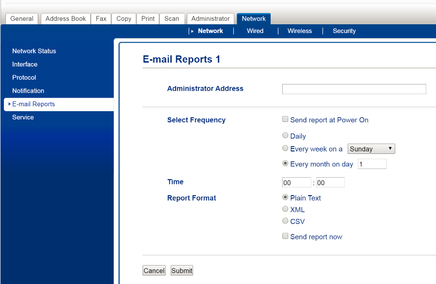 e mail reports cdn