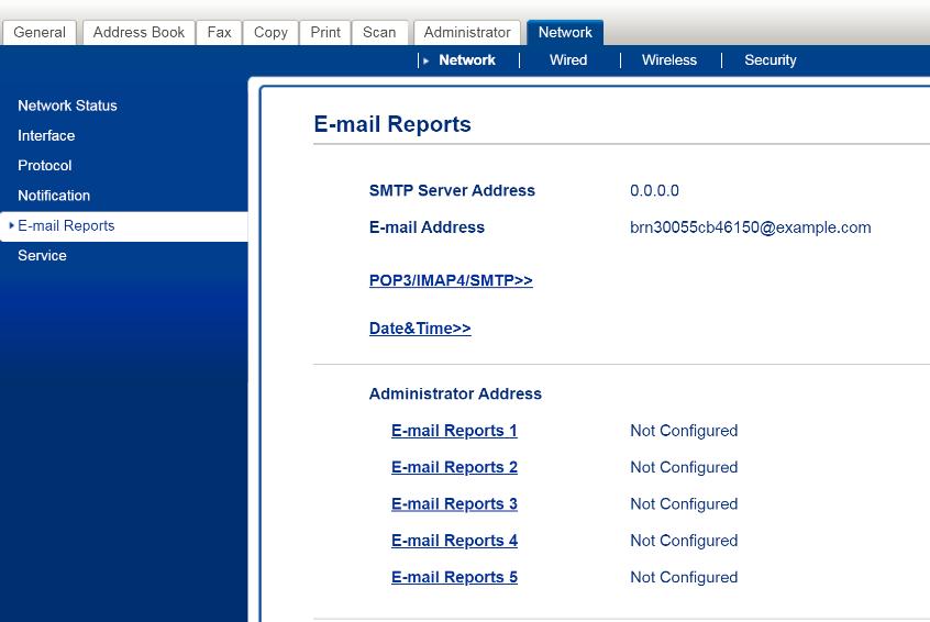 e mail reports
