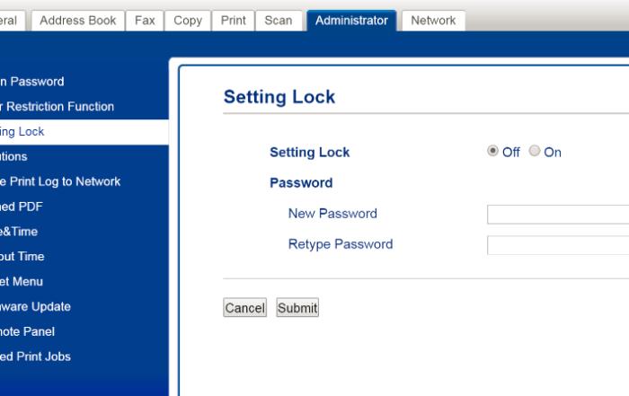 setting lock