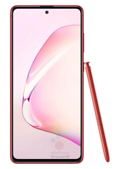 Budżetowy Samsung Galaxy Note10 Lite z rysikiem pokazali na oficjalnych zdjęciach