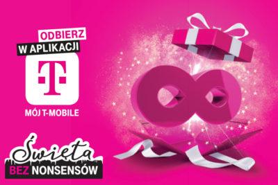 Prezent od T Mobile poziom Świąteczny, nielimitowany internet całkowicie za darmo na 2 tygodnie dla klientów T‑Mobile