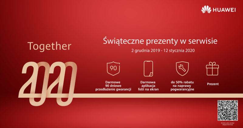 90 dni dodatkowej gwarancji, czyli przedświąteczna oferta w salonach serwisowych Huawei