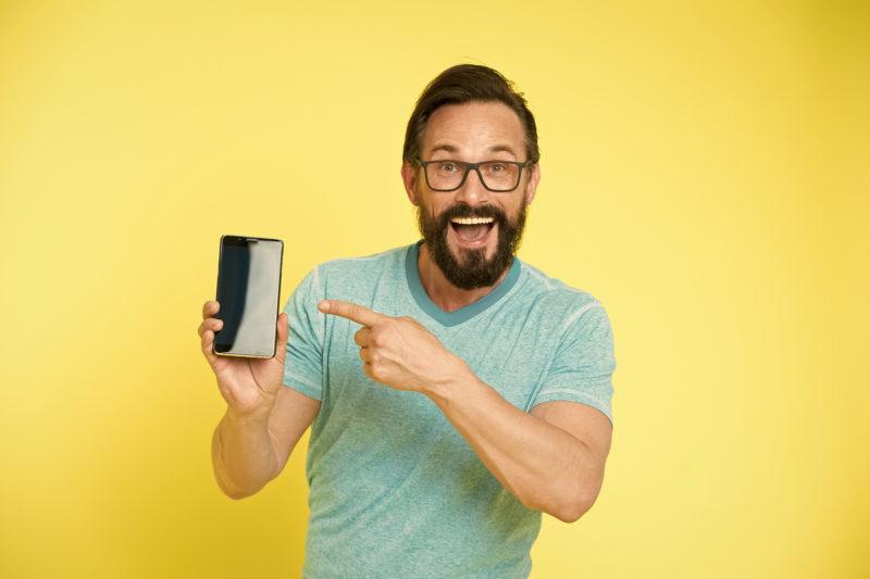 bigstock Check Out New App Guy Eyeglas 287768098