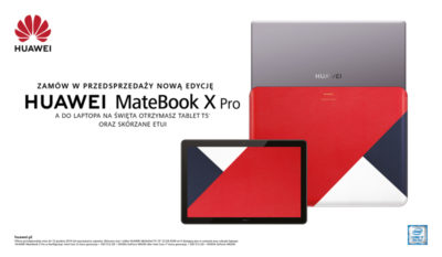 Huawei wprowadza nową wersję laptopa HUAWEI MateBook X Pro