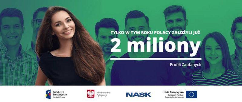 Tylko w tym roku Polacy założyli 2 miliony profili zaufanych