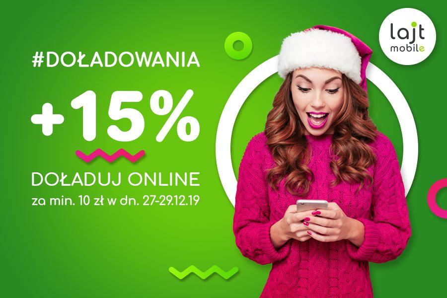 +15% do doładowań w lajt mobile