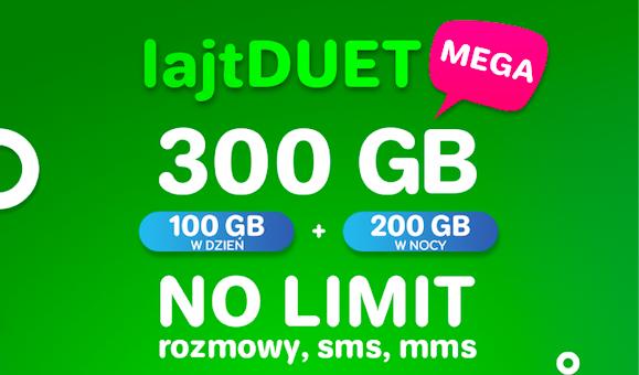 lajtDUET MEGA - niższa cena na stałe