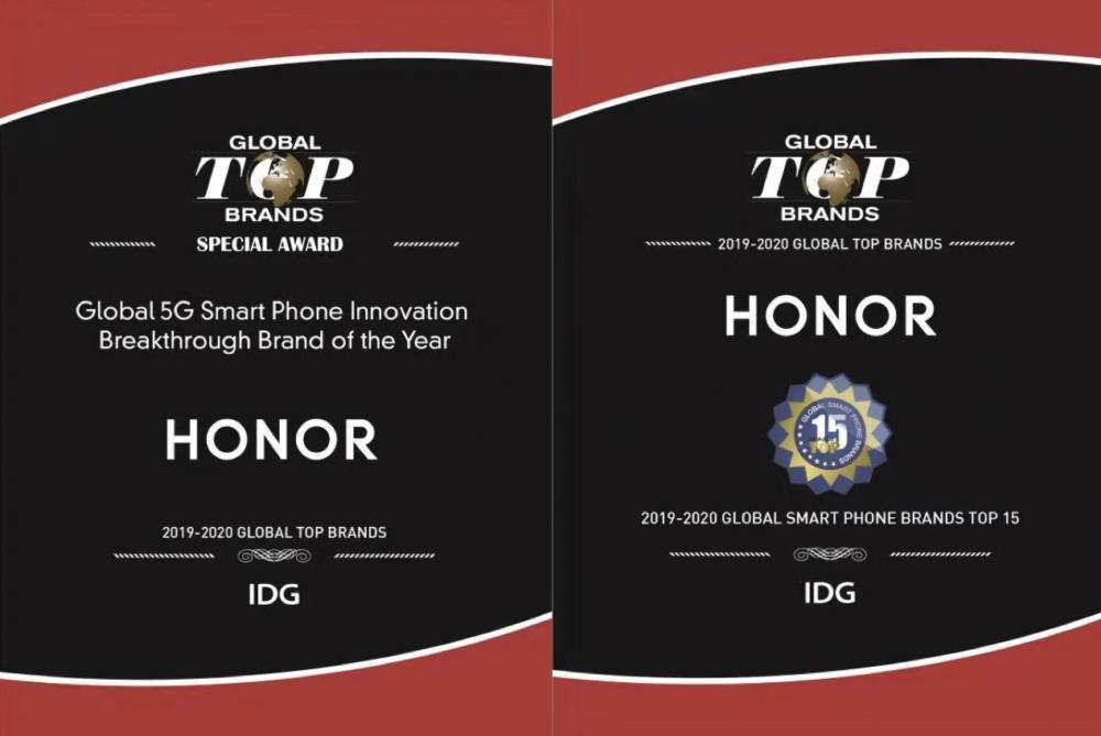 HONOR z tytułem jednej z 15 najlepszych marek roku na świecie wśród smartfonów i wiodącą globalną marką Smartphone 5G od IDG