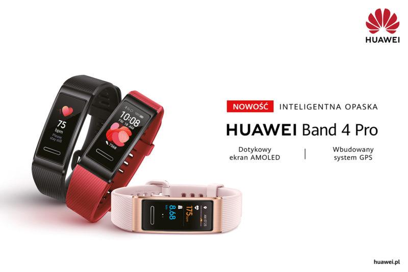 Huawei wprowadza do sprzedaży opaskę sportową Band 4 Pro z wbudowanym modułem GPS