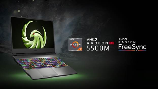 MSI wprowadza do sprzedaży nową serię laptopów gamingowych o nazwie Alpha. Są to pierwsze na świecie notebooki z kartą graficzną wykonaną w procesie technologicznym 7 nm. Rozpoczynający serię model MSI Alpha 15 jest kierowany do użytkowników, którzy oczekują wydajnego sprzętu do grania w rozdzielczości Full HD w niewygórowanej cenie. Alpha – nowa seria laptopów gamingowych MSI Alpha 15 jest pierwszym przedstawicielem nowej serii notebooków dla graczy od MSI. Będą ją tworzyć urządzenia oparte na kartach AMD wykonanych w procesie technologicznym 7 nm. Logotypem serii Alpha jest Ptak Gromu z rozpostartymi skrzydłami, który reprezentuje siłę, nowoczesność i rozwój. W swoim założeniu Alpha jest serią produktów przystępnych cenowo. Obecnie laptop jest dostępny w kilku wersjach konfiguracyjnych, a nowe warianty będą pojawiać się w przyszłości. Laptopy MSI Alpha mogą przyjąć do 64 GB pamięci operacyjnej. Ponadto poza matrycą o odświeżaniu 120 Hz, mogą one współpracować z panelami 144 Hz lub nawet 240 Hz. Z konstrukcją jest też kompatybilna klawiatura Steel Series z pełnym podświetleniem RGB. Podwójna moc AMD Nowa konstrukcja MSI łączy wydajny 8-wątkowy procesor Ryzen 7 3750H z kartą graficzną z serii AMD Navi, Radeon RX 5500M. Jest to karta o takiej samej specyfikacji, co przeznaczony dla komputerów stacjonarnych Radeon RX 5500 XT. Jedyną zmianą jest nieznacznie obniżony zegar rdzenia, który pozwala uzyskać jeszcze lepszą efektywność energetyczną, a więc niższe temperatury układu oraz dłuższy czas pracy na zasilaniu akumulatorowym. Za utrzymanie niskich temperatur procesora oraz układu graficznego, nawet podczas najbardziej zaciętych rozgrywek, odpowiada rozbudowany system chłodzenia Cooler Boost 5. Układ ten jest oparty na dwóch wentylatorach i siedmiu ciepłowodach. Szybki ekran IPS z AMD FreeSync Dopełnieniem karty Radeon RX 5500M w modelu Alpha 15 jest 15,6-calowy ekran IPS o wysokiej częstotliwości odświeżania. Zapewnia on wsparcie dla technologii AMD FreeSync, która za