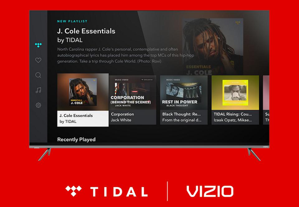 TIDAL od teraz dostępny na VIZIO SMART TV