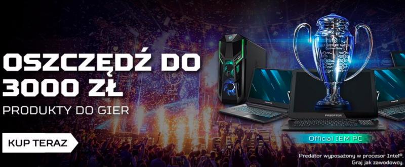 Acer Store obniża ceny z okazji IEM Katowice 2020