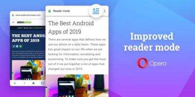 Opera dodaje znacznie lepszy tryb czytnika do najnowszej wersji przeglądarki na Androida