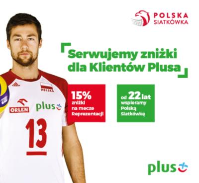 Ponownie 15% zniżki dla klientów Plusa na bilety na mecze siatkówki!