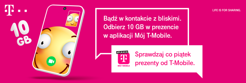 10 GB dodatkowego internetu dla klientów T‑Mobile