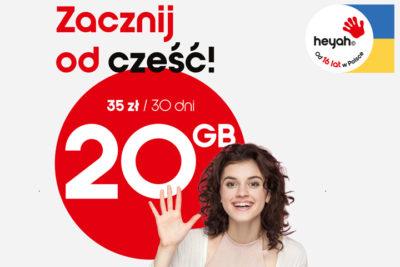 Zacznij od cześć - najlepsza oferta na start od Heyah na kartę dla osób z Ukrainy