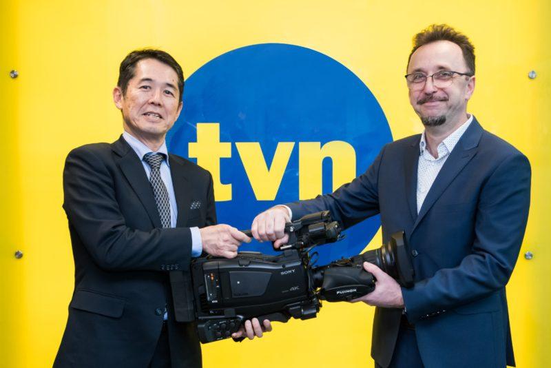 TVN24 jest pierwszym nadawcą telewizyjnym na świecie, który wdraża nowe kamery reporterskie Sony PXW-Z750