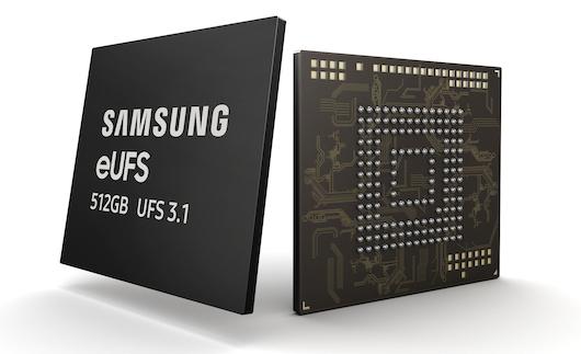 Firma Samsung rozpoczyna masową produkcję nośników eUFS 3.1 512 GB dla smartfonów