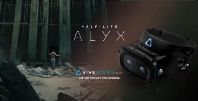HTC Vive Cosmos Elite w pakiecie z grą Half-Life: Alyx