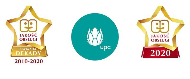 UPC Polska wyróżnione Gwiazdą Jakości Obsługi 2020 oraz Gwiazdą Jakości Obsługi Dekady