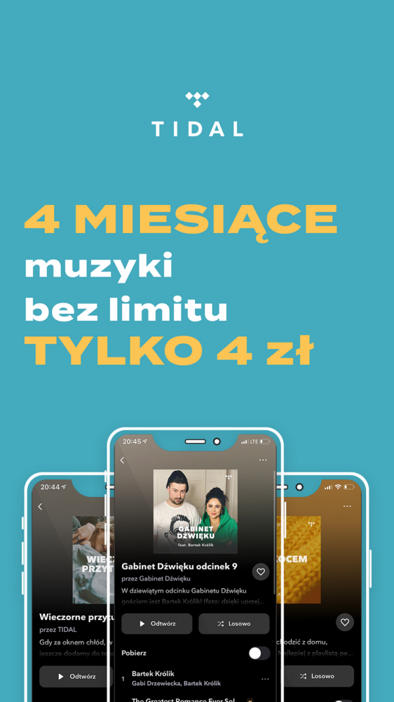 Korzystanie z serwisu jest wyjątkowo łatwe. TIDAL jest zintegrowany z wieloma aplikacjami i urządzeniami używanymi codziennie przez miliony osób na całym świecie. Aplikacje Waze, Apple TV/Android TV, Apple CarPlay oraz urządzenia Roku, Samsung Wearables czy Sonos to tylko niektóre z nich. Po upływie okresu promocyjnego, użytkownicy mogą kontynuować subskrypcję w cenie 19,99 zł miesięcznie za wersję Premium i 39,99 zł miesięcznie za wersję HiFi.