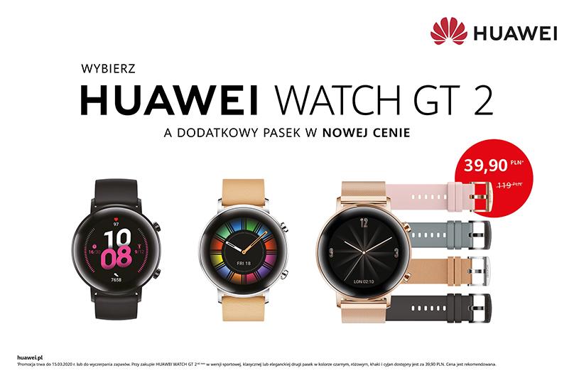 Kup Huawei Watch GT 2 w wersji 42 mm i dobierz dodatkowy pasek w atrakcyjnej cenie