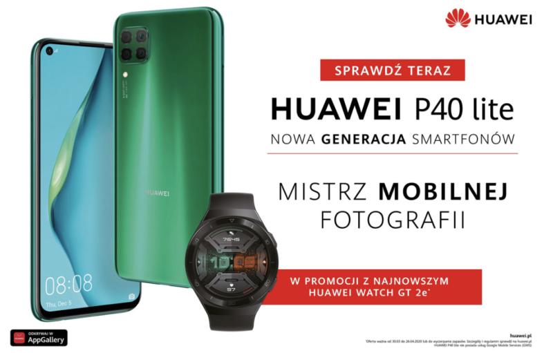 HUAWEI P40 lite dostępny w zestawie z najnowszym smartwatchem marki