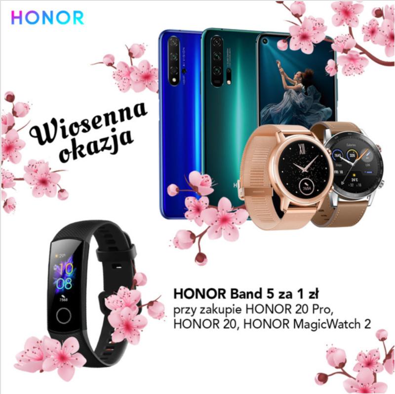 Wyjątkowa promocja - Honor Band 5 za 1zł