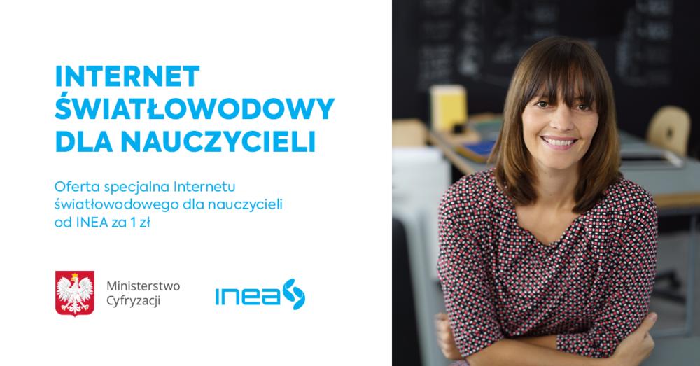 Internet dla nauczycieli Inea udostępnia nauczycielom symetryczny internet światłowodowy za 1 zł