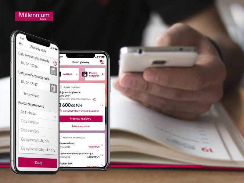 Płatności za warszawskie parkingi dostępne w aplikacji mobilnej Banku Millennium
