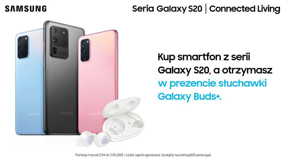 Kup smartfon z serii Galaxy S20 i odbierz słuchawki Galaxy Buds+ w prezencie