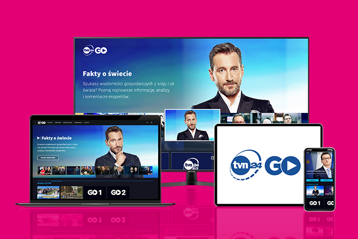 Bezpłatny dostęp do TVN24 GO w aplikacji Mój T‑Mobile