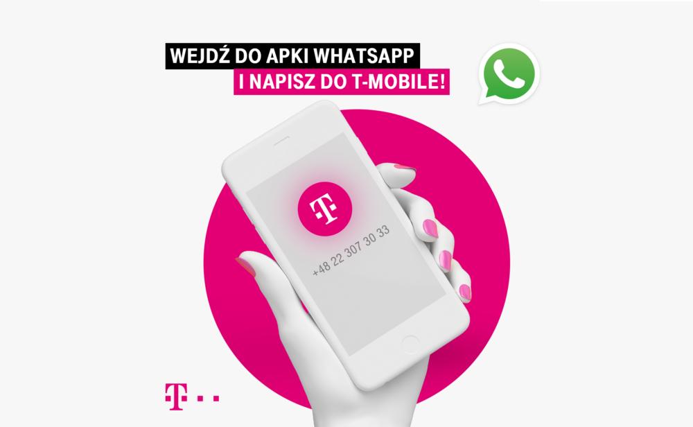 T‑Mobile pierwszym operatorem infrastrukturalnym z obsługą klientów przez aplikację WhatsApp
