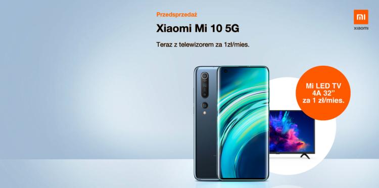 """Premierowy Xiaomi Mi 10 + telewizor Mi TV 32"""" za 1 zł/mc"""