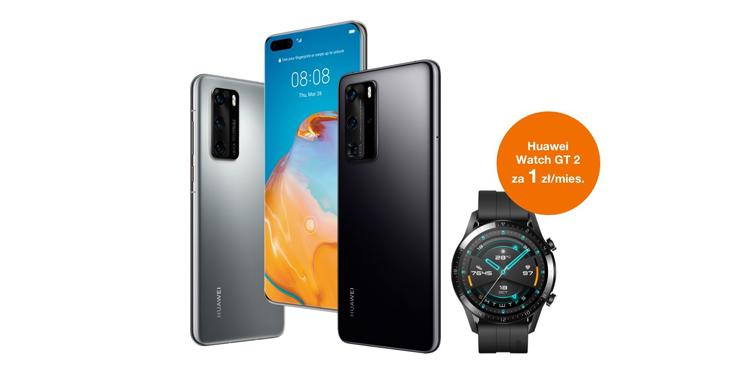Premierowy Huawei P40 i P40 Pro + Huawei Watch GT 2 za 1 zł