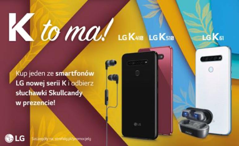 Słuchawki Skullcandy przy zakupie wybranych modeli LG serii K