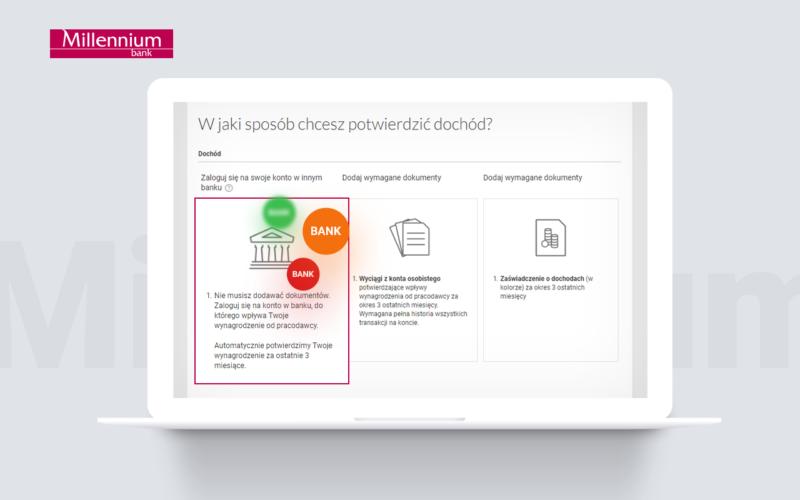 Bank Millennium wprowadza możliwość potwierdzenia dochodu w procesie pożyczki gotówkowej z wykorzystaniem logowania do innego banku