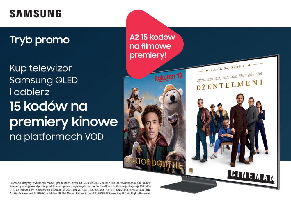 Telewizory QLED z voucherami na premiery filmowe