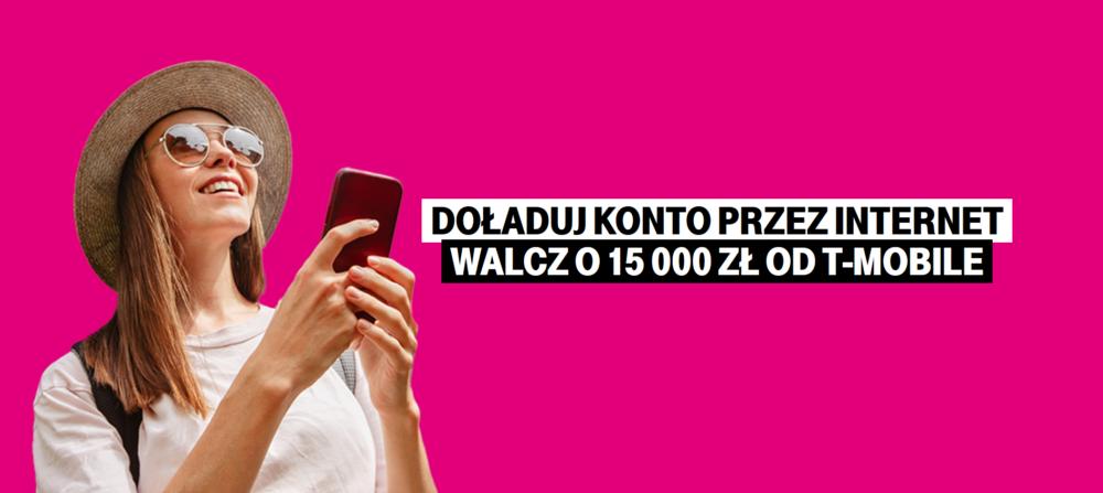 Doładuj numer w T-Mobile przez internet i zgarnij atrakcyjną nagrodę