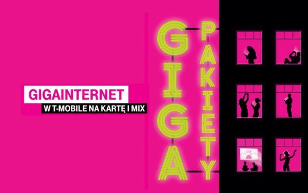 Giga pakiety internetu w T-Mobile na kartę i MIX