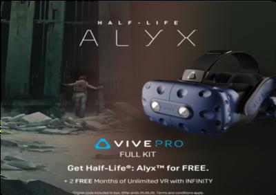 """htc Zestaw HTC Vive Pro Full Kit z grą """"Half-Life: Alyx"""" w prezencie"""